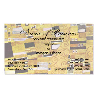 The Kiss by Klimt, Art Nouveau Gold Pattern Design Business Card Template
