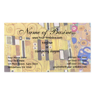 The Kiss by Klimt, Art Nouveau Gold Pattern Design Pack Of Standard Business Cards