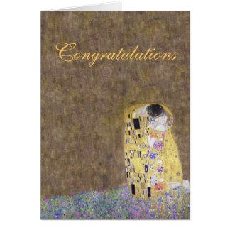 The Kiss Congratulations Wedding or Anniversary Card