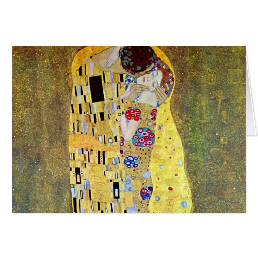 The Kiss (Der Kuss) by Gustav Klimt, Art Nouveau Cards