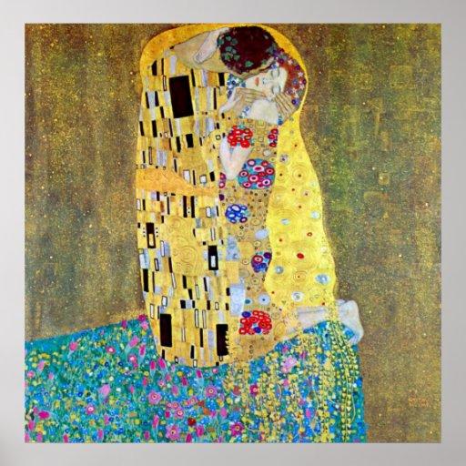 The Kiss (Der Kuss) by Gustav Klimt, Art Nouveau Poster