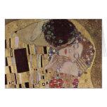The Kiss Detail - Gustav Klimt Greeting Cards