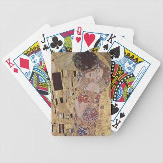 The Kiss Detail - Gustav Klimt Bicycle Poker Cards