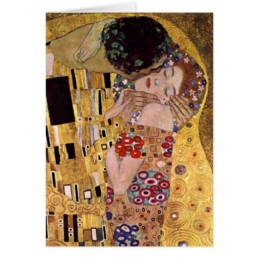 The Kiss, Gustav Klimt Greeting Cards