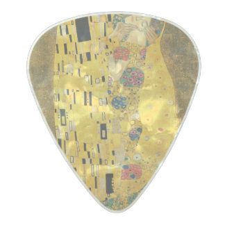 The Kiss - Gustav Klimt Pearl Celluloid Guitar Pick