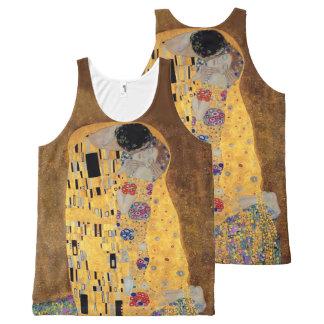 The Kiss Gustav Klimt Fine Art All-Over Print Tank Top