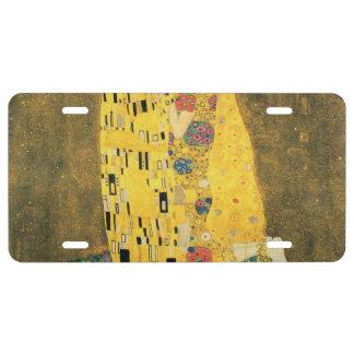 The Kiss - Gustav Klimt License Plate