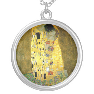 The Kiss ~ Gustav Klimt Silver Plated Necklace