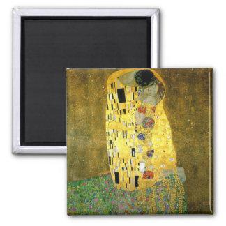 The Kiss ~ Gustav Klimt Square Magnet