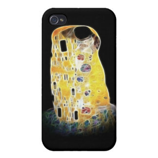 The Kiss Gustav Klimt Yellow Digital Painting iPhone 4 Case