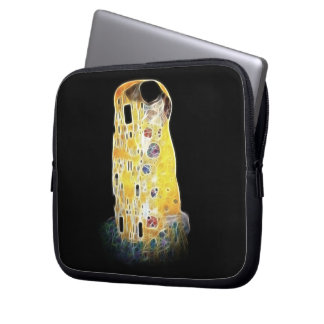 The Kiss Gustav Klimt Yellow Digital Painting Laptop Sleeve