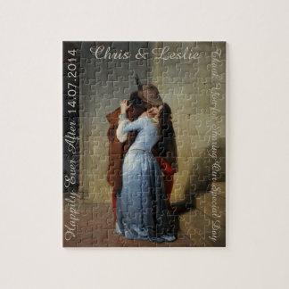 The Kiss / Il Bacio custom text art puzzle
