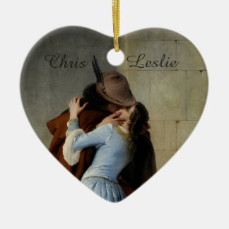 The Kiss / Il Bacio custom wedding ornament