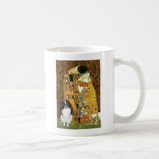 The Kiss - Japanese Chin 3 Basic White Mug