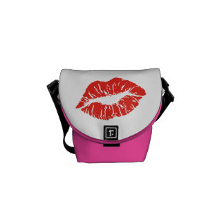 The Kiss Lips Rickshaw Messenger Bag