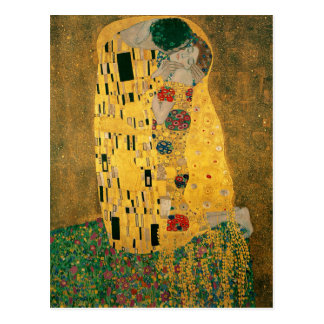The Kiss (Lovers) by Gustav Klimt GalleryHD Postcard