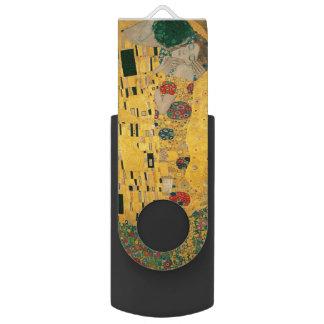 The Kiss (Lovers) by Gustav Klimt GalleryHD Swivel USB 2.0 Flash Drive