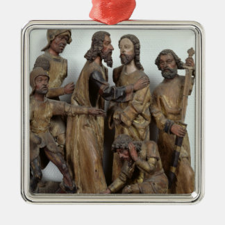 The Kiss of Judas, from Antwerp Silver-Colored Square Decoration