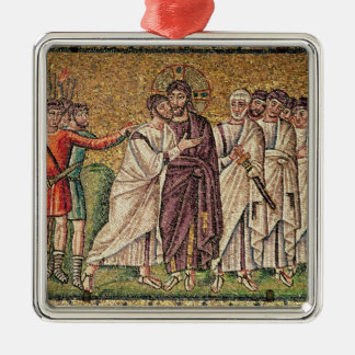 The Kiss of Judas, Scenes from the Life of Christ Silver-Colored Square Decoration