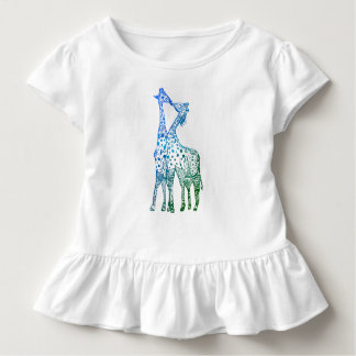 The kiss of the giraffes Tutu RufleTee Toddler T-Shirt