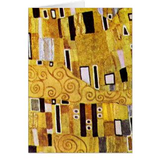 The Kiss Pattern by Gustav Klimt, Art Nouveau Card