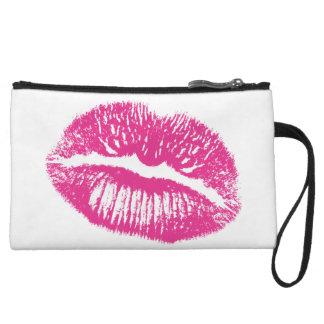 The Kiss Pink Lips Wristlet Clutch