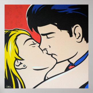 The Kiss Pop Art Poster