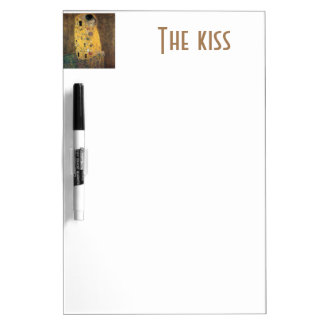 The Kiss, ,reproduction,Gustav Klimt painting,art Dry-Erase Boards