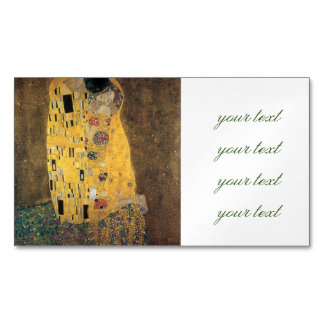 The Kiss, ,reproduction,Gustav Klimt painting,art, Magnetic Business Cards