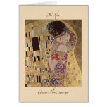 The Kiss Valentine's Card by Gustav Klimt 1907-08