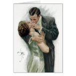 The  Kiss, Vintage Couple Greeting Card