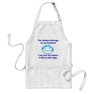 The kitchen belongs to my husban... standard apron