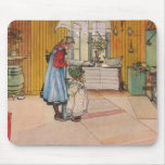 The Kitchen by Carl Larsson Art Print Mouse Pad