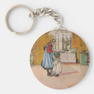 The Kitchen by Carl Larsson Swedish Artist Key Ring