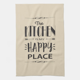 The Kitchen is My Happy Place Tea Towel