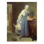 The Kitchen Maid with Provisions, 1739 Postcard