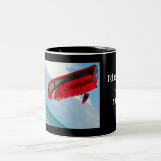 The kiteboarder Two-Tone coffee mug