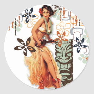 The Kitsch Bitsch : Aloha Oops! Classic Round Sticker