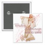 The Kitsch Bitsch : Bride's Entourage! Pinback Buttons