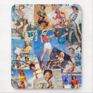 The Kitsch Bitsch : Destroyed Cowgirl Pin-Ups No.1 Mouse Mat