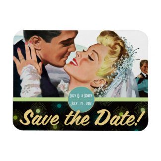 The Kitsch Bitsch : For Better ... Save The Date Rectangle Magnet