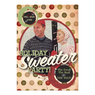 The Kitsch Bitsch Holiday Sweater Party Custom Invite