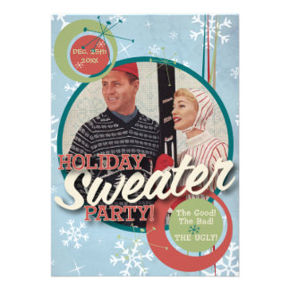 The Kitsch Bitsch Holiday Sweater Party Custom Invitation