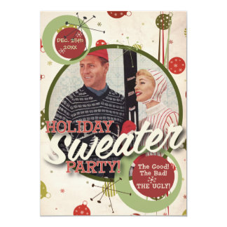 "The Kitsch Bitsch : Holiday Sweater Party! 5"" X 7"" Invitation Card"