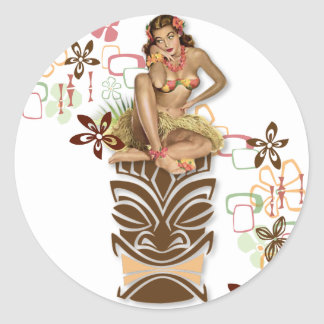 The Kitsch BItsch : Hula Hips! Round Sticker