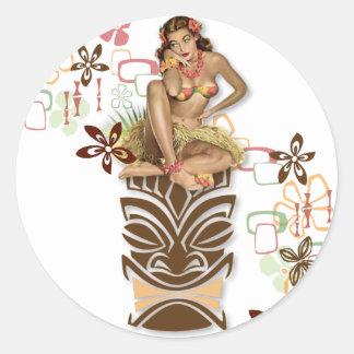 The Kitsch BItsch : Hula Hips! Round Sticker