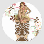 The Kitsch BItsch : Hula Hips! Round Stickers