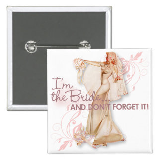 The Kitsch Bitsch : I'm The Bride! 15 Cm Square Badge