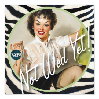The Kitsch Bitsch : Not Wed Yet! 13 Cm X 13 Cm Square Invitation Card