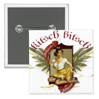 The Kitsch Bitsch : Soda Girl Retro Tattoo Pin-Up 15 Cm Square Badge